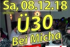 2018 12 08 Bei Michas Ü30 DinA3 Plakat